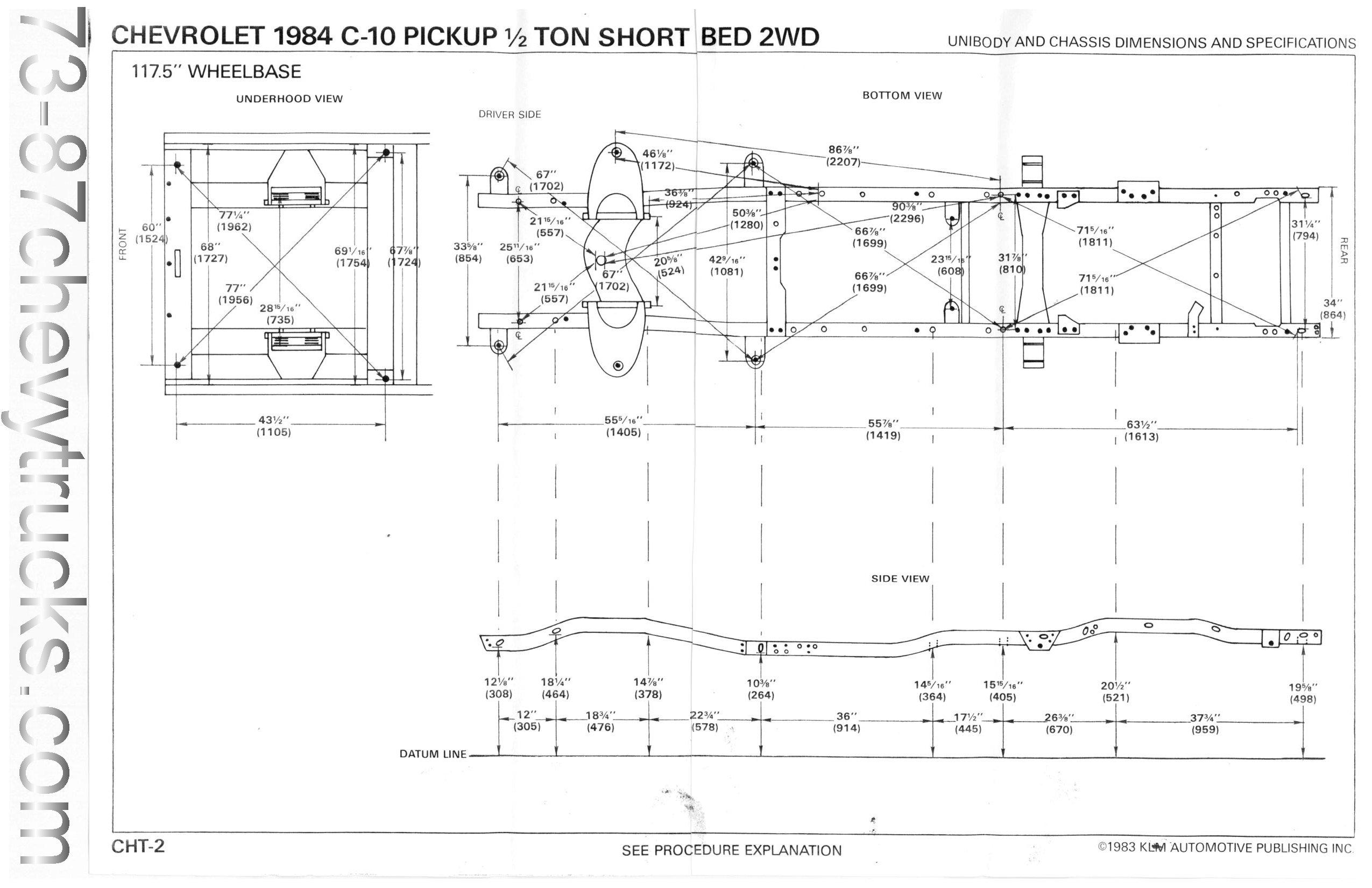 Chassis Dim on Chevy S10 Steering Diagram