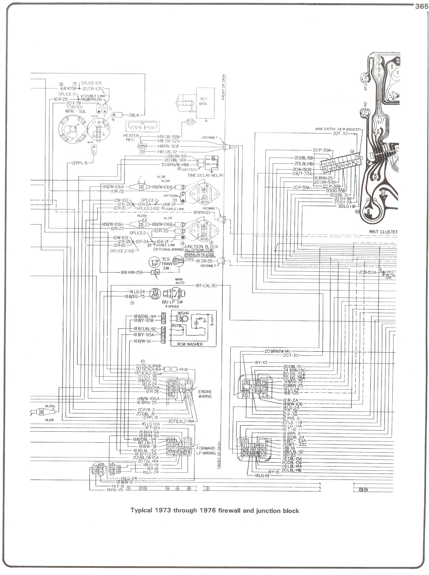 Complete 73 87 Wiring Diagrams Engine 76 Firewall Junction