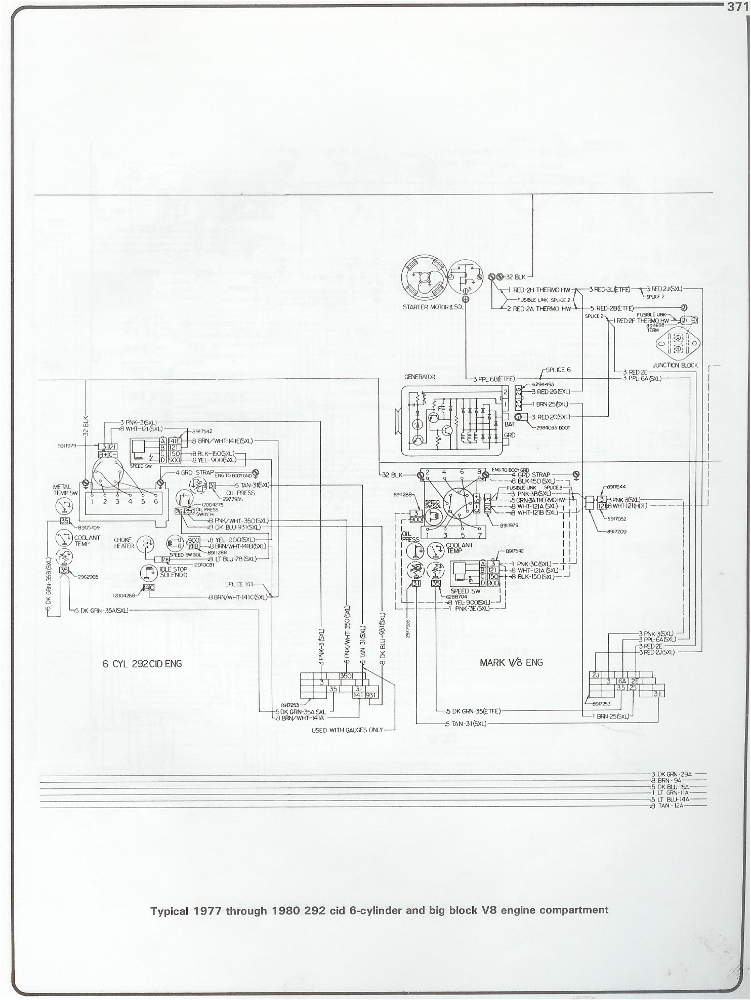 Complete 73 87 Wiring Diagrams Chevrolet Cruise Control Diagram 77 80 292 I6 And Bbc Engine