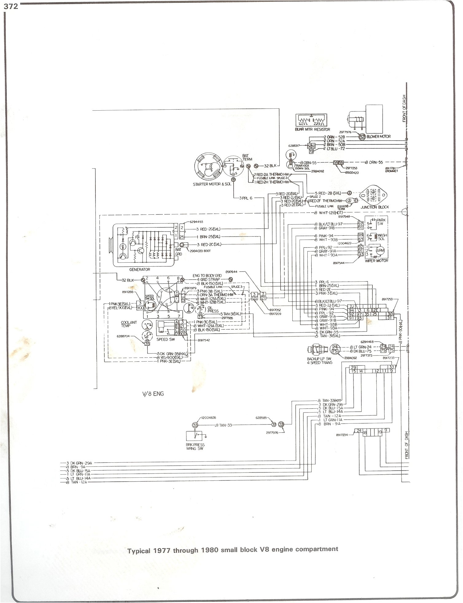 Complete 73 87 Wiring Diagrams 1988 Gmc Sierra 1500 305 V8 Fuse Box Diagram 77 80 Sbc Engine